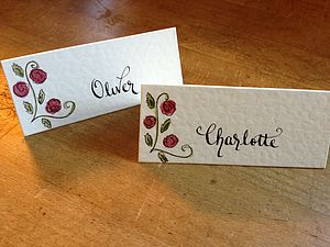 20 Personalised Place Cards - table decorations