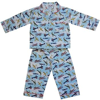 Aeroplane Print Cotton Pyjamas