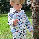 Aeroplane Print Cotton Pyjamas