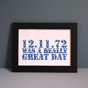 Personalised Really Great Day Unframed Print