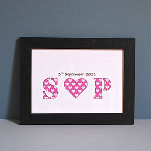 Personalised Couple Initial Unframed Print - view all sale items