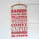 Reindeer Names Tea Towel