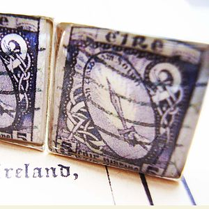 Irish Stamp Cufflinks - cufflinks