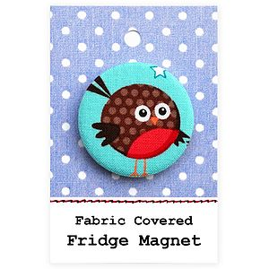 ''Christmas Robin'' Stocking Filler Christmas Magnet - kitchen