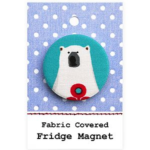 ''Polar Bear'' Fridge Magnet Christmas Stocking Filler - kitchen