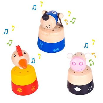 Traditional Farm Animal Sounds Musical Toy