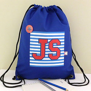 Boy's Personalised College Style Waterproof Kit Bag - baby & child