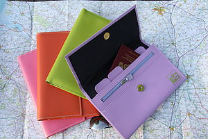 Leather Travel Organiser - wallets & money clips