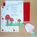 Personalised Toadstool Party Invitations Pack Of 10