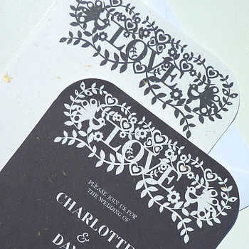 'Silhouette' Wedding Invitation