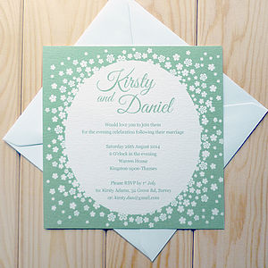 Confetti Wedding Invitation - wedding stationery