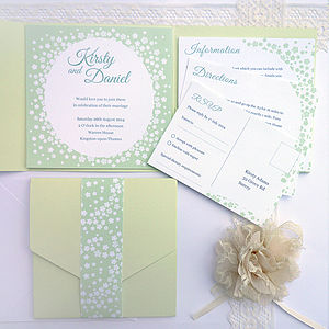 Confetti Pocketfold Wedding Invitation