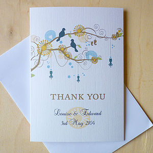 Personalised Wedding Thank You Card - thank you cards