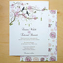 Floral Tree Wedding Stationery