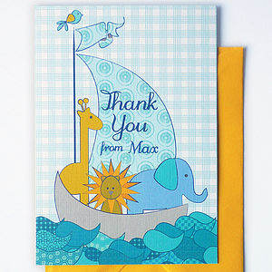 Children's Personalised Thank You Cards - birthday cards