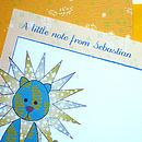 lion-bird-illustrated-notelets-blue-yellow-ink-pudding-notonthehighstreet