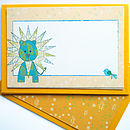 Personalised Children's Lion Notecards