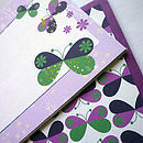 Set Of 12 Butterfly Notecards
