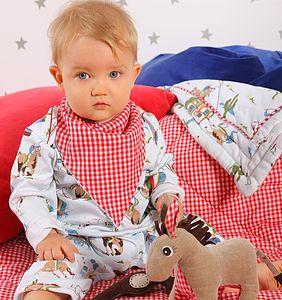 Cowboy Babygrow, Bib And Horse Baby Gift Set - clothing