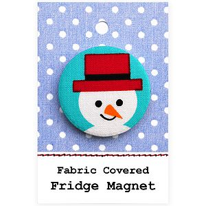 ''Snowman'' Fridge Magnet Christmas Stocking Filler