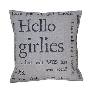 Personalised Quote Typography Cushion Cover