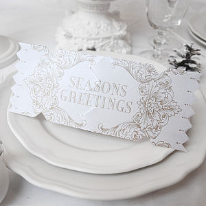 Seasons Gold Christmas Cracker Card