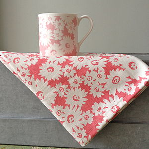 Pink Daisy Tea Towel