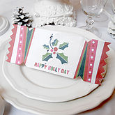 'Happy Holly Day' Christmas Cracker Card - christmas decorations
