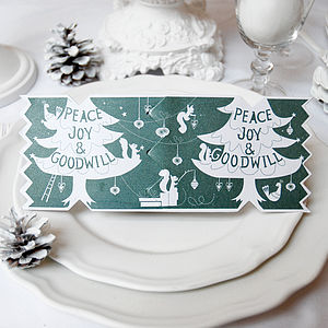 Dream Tree Christmas Cracker Card - table decorations