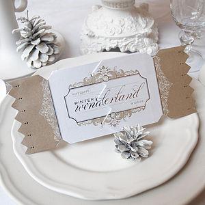 Gold Wonderland Christmas Cracker Card