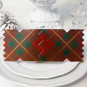 Festive Tartan Christmas Cracker Card - crackers