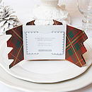 Festive Tartan Christmas Cracker Card