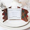 Festive Tartan Christmas Cracker Card