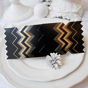 Noir Christmas Cracker Card - christmas parties & entertaining
