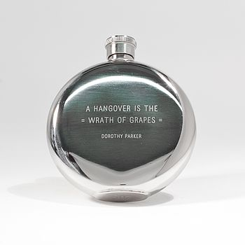 'Hangover Is The Wrath Of Grapes' Hipflask