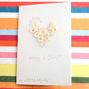 Button Heart Wedding Card - Personalised