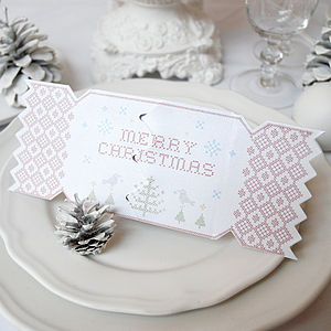 Alpine Tree Christmas Cracker Card - winter sale