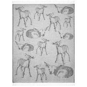 Baby Deer Wool Throw