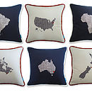 Embroidered Countries Cushions