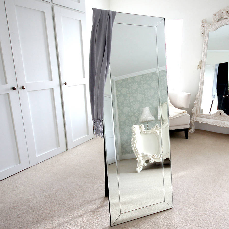 Very bevelled cheval mirror by decorative mirrors online  YL54