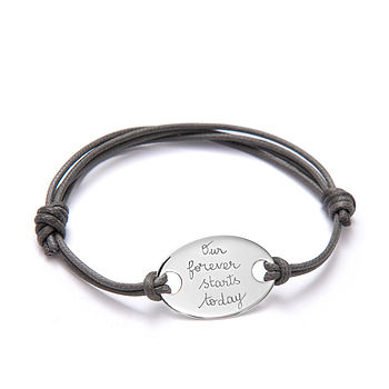 Groom's Personalised Oval Plate Bracelet