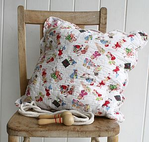 Vintage Style Quilted Cushion Cover