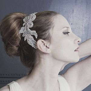 Natalia Diamante Lace Style Wedding Comb - bridal hairpieces
