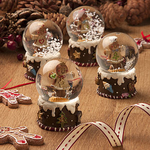 Mini Gingerbread Man Snow Globe - shop by price