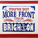 Brighton Linocut Flat (Red and Blue)