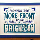 Brighton Linocut Flat (Blue and Turquoise)
