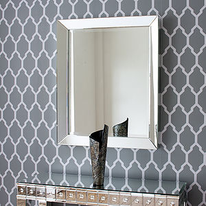 Bevelled All Glass Mirror