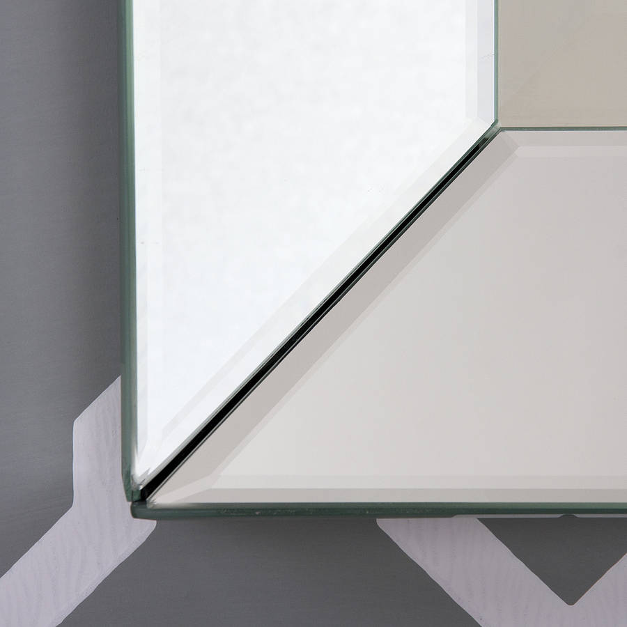 Bevelled all glass mirror by decorative mirrors online for Beveled glass mirror
