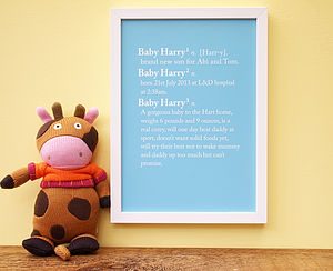 Personalised Baby Dictionary Definition Print - children's pictures & paintings