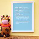 Personalised Baby Dictionary Definition Print
